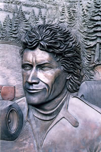 Further detail of bronze memorial ....