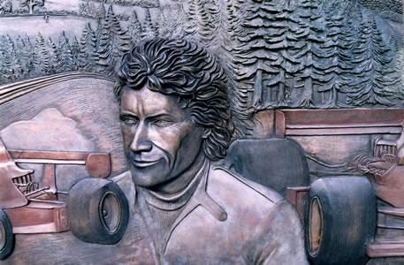 Detail of bronze memorial ...